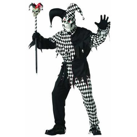 Adult Black Evil Jester Costume California Costumes 928 - Evil Jester Kids Costume