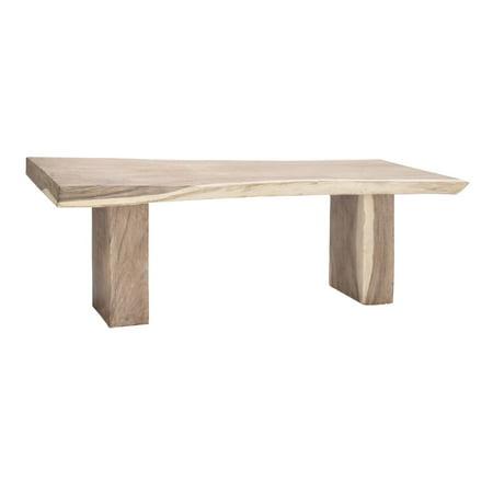 Benzara Rectangular Shape Teak Console Table
