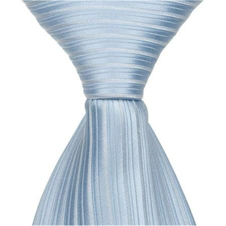 Matching Tie Guy 2360 B1 - 6 in. Newborn Zipper Necktie - Blue - image 1 de 1