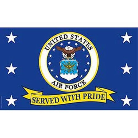 US Air Force Served with Pride Super Poly Full Sized Flag 3'x5'