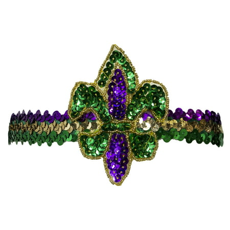 Costume Accessory - Mardi Gras Fleur Di Lis Sequin - Mardi Gras Accessories