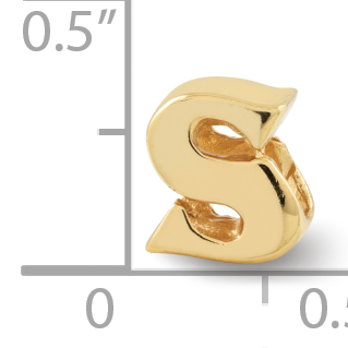 925 Sterling Silver Gold Plated Charm For Bracelet Letterbead Bead Alphabet Letter Fine Jewelry Gifts For Women For Her - image 1 de 4