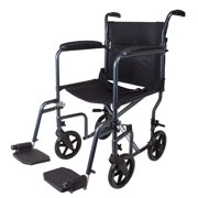 Carex Transport Wheelchair, Lightweight Transport Chair With 8 Inch Oversized Wheels and 19 Inch Seat