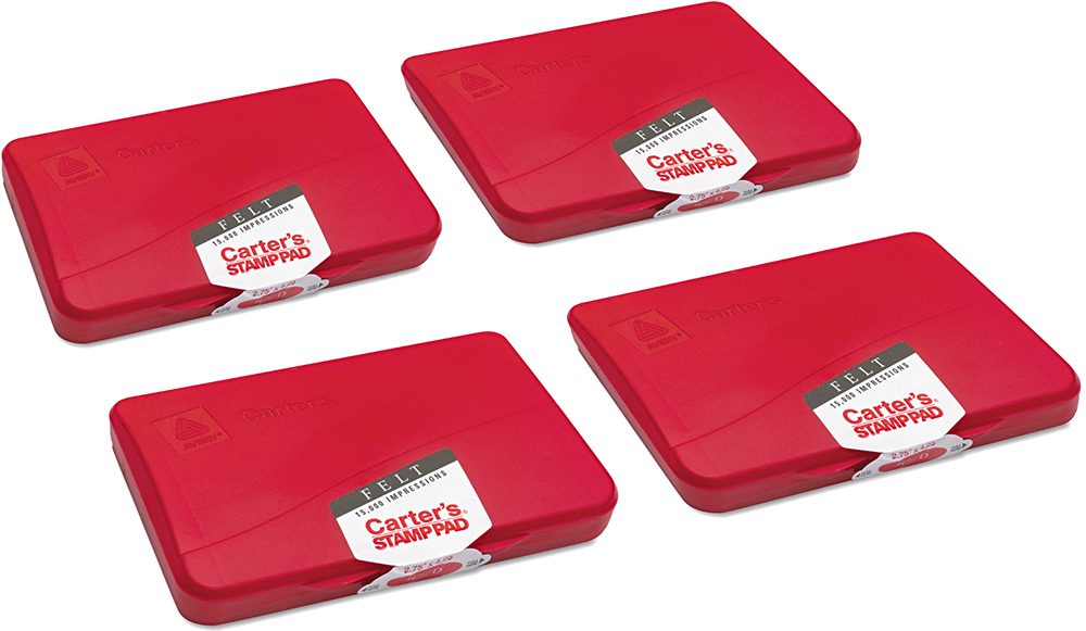 Carter/'s® Felt Stamp Pad 4 1//4 x 2 3//4 Red 071709210717