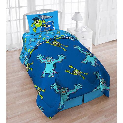 Monsters University 4-Piece Reversible Twin Bedding Set with Bonus Tote