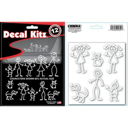 Chroma Family Stick People Auto Art Decal Kit