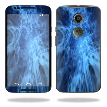 Mightyskins Protective Vinyl Skin Decal Cover for Motorola Moto X (2nd Gen 2014) Cover wrap sticker skins Blue Mystic Flames