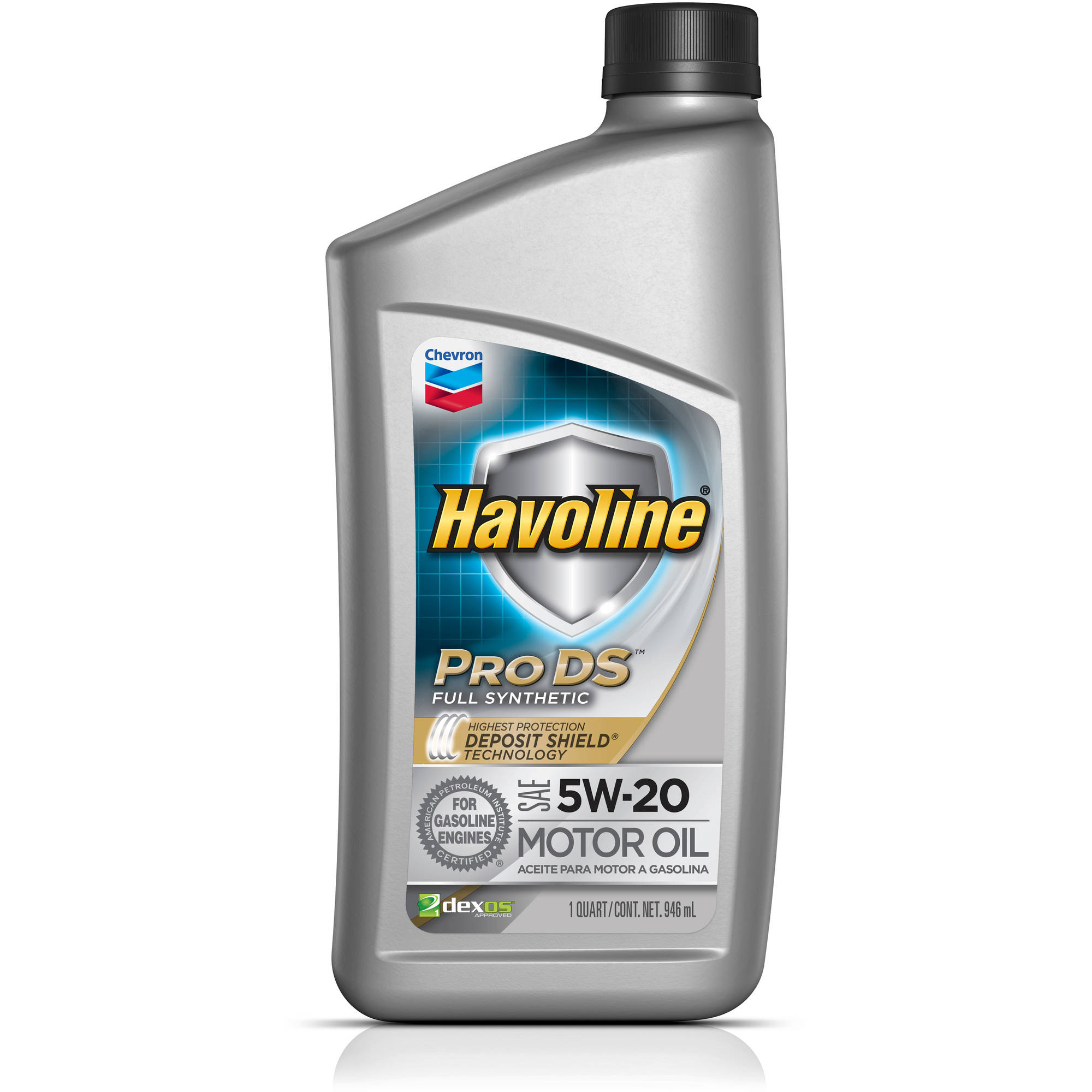 Chevron Havoline® Pro DS™ Full Synthetic SAE 5W-20 Motor Oil 1 qt Bottle