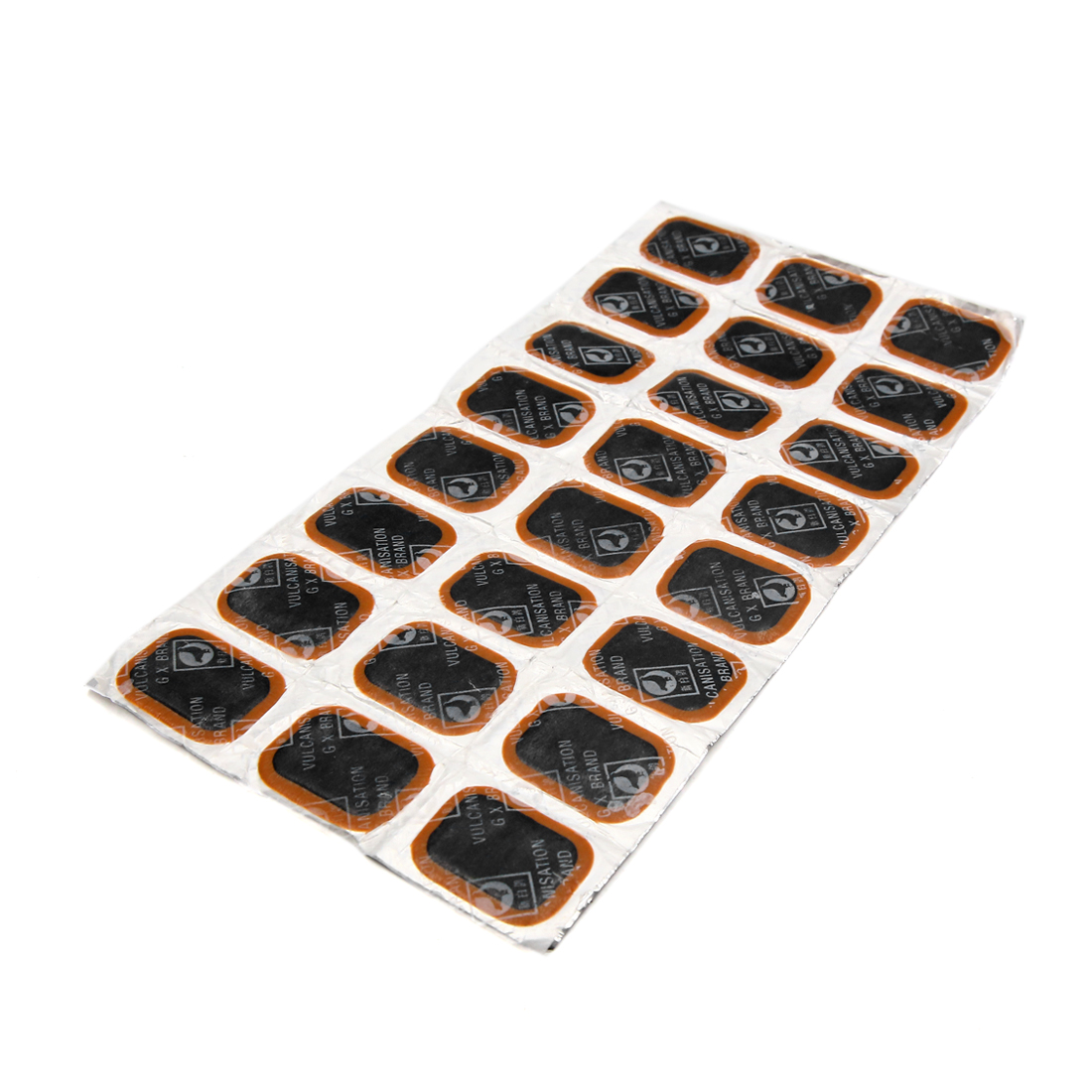 24pcs Rubber Square Type Bike Tire Tyre Puncture Repair Patches Tool 35 x 24mm