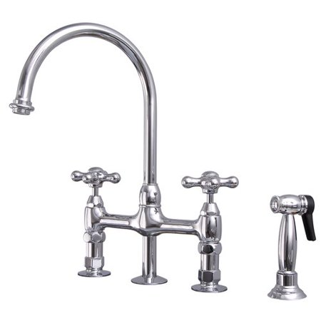 Barclay Harding Kitchen Bridge Faucet with Side Spray