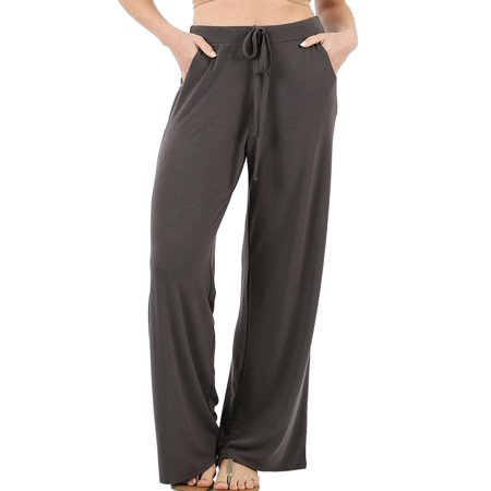 NEW MOA Women's Solid Casual Comfy Loose Fit Pockets Drawstring Pants