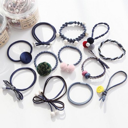 Women Hairline Cute Simple Lady Hair Ring Hair Tie Rubber Band Hair Ropes Jewelry Lace Flower Set Hairline Synthetic Hair Lace