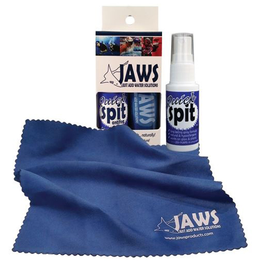 JAWS 1 oz. Quick Spit Antifog Spray with Microfiber Cloth