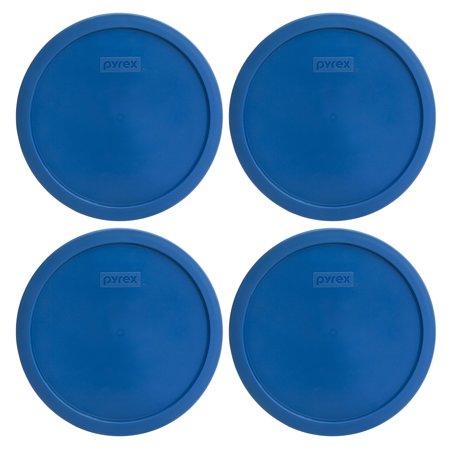 Pyrex Replacement Lid 7401-PC 3-Cup Lake Blue Round Cover 4-Pack for Pyrex 7401 Bowl (Sold Separately)