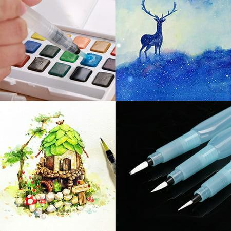 Refillable Pilot Water Brush Ink Pen for Painting Watercolor Drawing Pen
