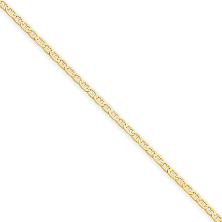 1.5mm, 14k Yellow Gold, Solid Anchor Link Chain Necklace, 16 Inch