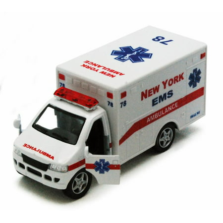 - New York Rescue Team Ambulance, White - Kinsmart 5259DNY - 5