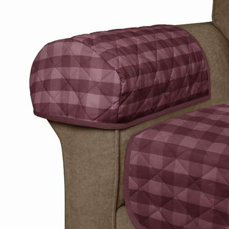 Maytex Buffalo Check Reversible Polyester Loveseat Slipcover