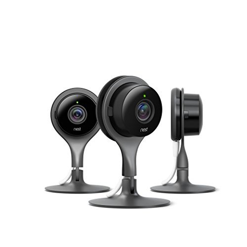 Refurbished Lot Of 3 Nest Cam Indoor Security Camera 3 Pack Works With Amazon Alexa