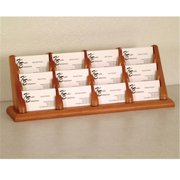 Wooden Mallet BCC4-12LO 12 Pocket Countertop Business Card Holder in Light Oak