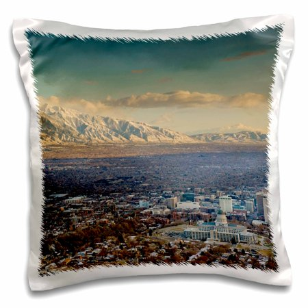3dRose Wasatch Mountains, Salt Lake City, Utah, USA - US45 HGA0340 - Howie Garber - Pillow Case, 16 by (Lake City Family Physicians Pc Lake City Mn)