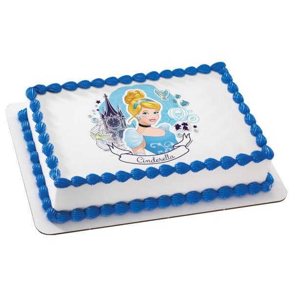 Cool Disney Princess Cinderella Full Of Dreams 2 Round Cupcake Sheet Birthday Cards Printable Inklcafe Filternl