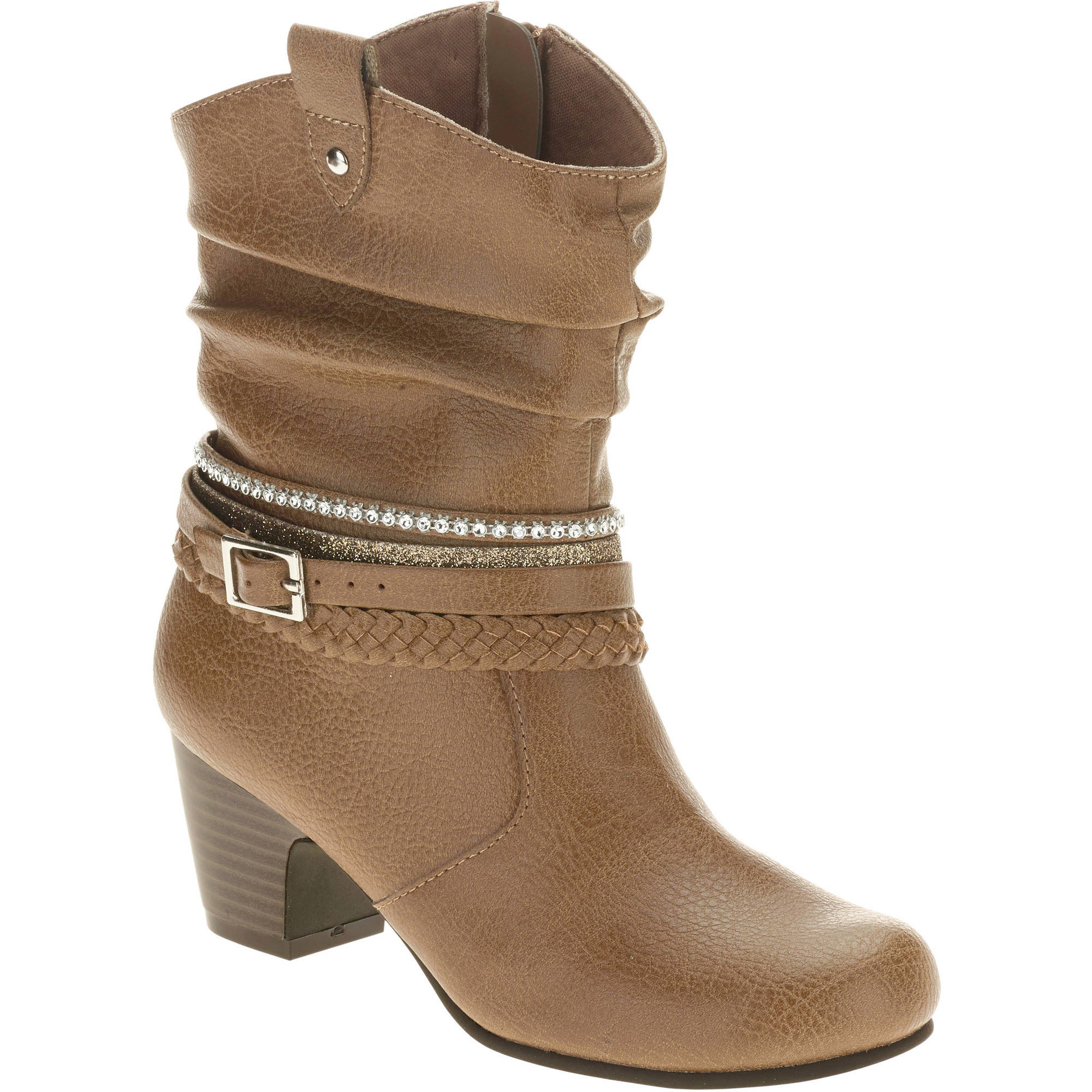 Faded Glory Girls' Bling Heel Boots