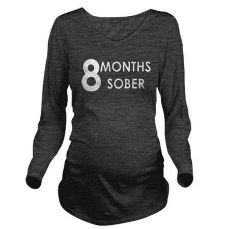 2ee7b415a CafePress - CafePress - 8 Months Sober Long Sleeve Maternity T Shirt - Long  Sleeve Maternity T-Shirt - Walmart.com