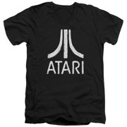 Atari - Rough Logo - Slim Fit V Neck Shirt - Large