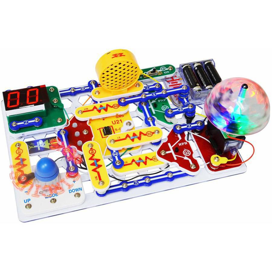 Snap Circuits Discovery Kit Arcade Electronics W Dual Led Display Elenco Electrical Project Kid Educational For Kids New