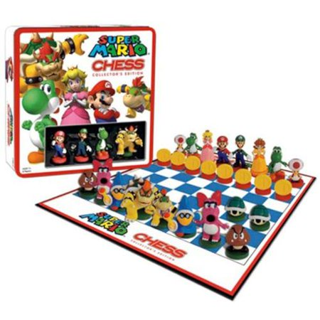 Nintendo Board Game Super Mario Chess With Mini Figures  Gift Idea