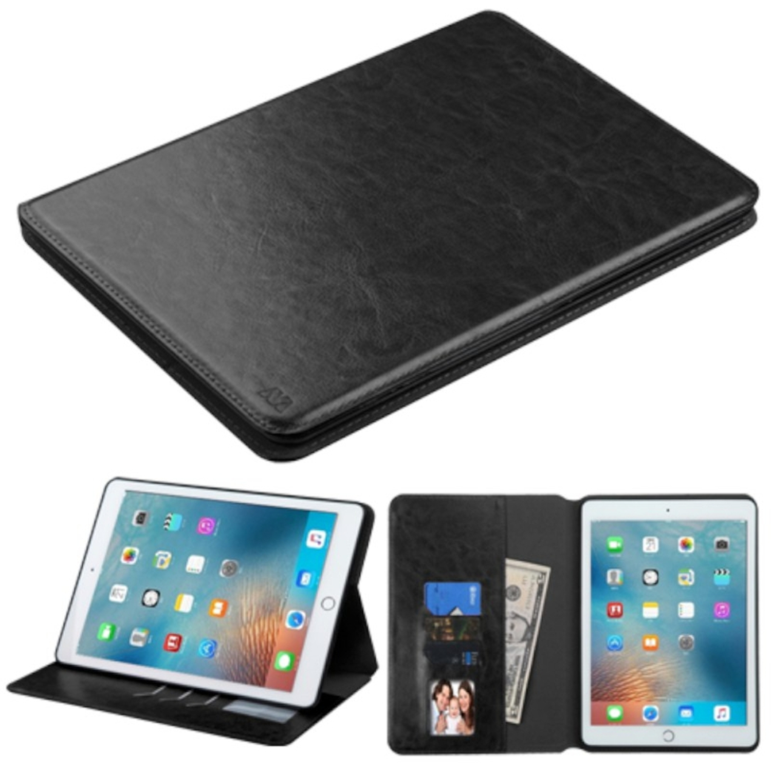 """iPad Pro 9.7"""" Case, by Insten Book-Style Leather Wallet Cover Stand Case with card slot For Apple iPad Pro (9.7"""") case cover"""