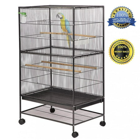 Bird Pet Wrought Iron Flight Cage, 53