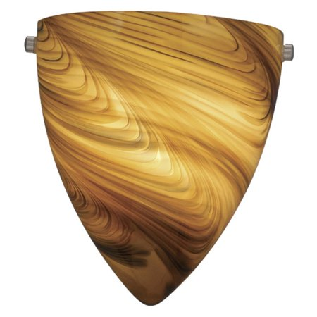 Vaxcel Milano Wall Sconce with Mocha Swirl Glass - 9W in. Satin Nickel Mocha Colored Swirl