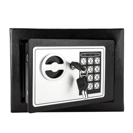 17E Home Use Electronic Password Steel Plate Safe Box Black thumbnail