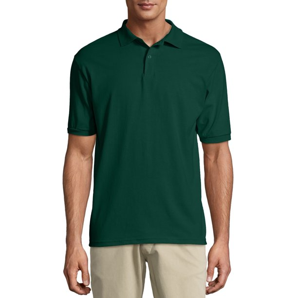 Hanes Men's Ecosmart Jersey Knit Polo Shirt