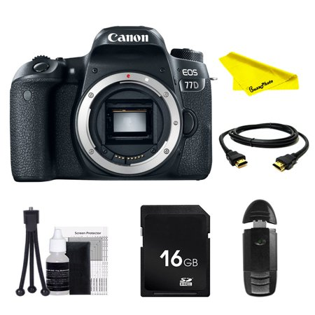 Canon EOS 77D DSLR Camera (Body Only) with SD Card + Buzz-Photo Beginners