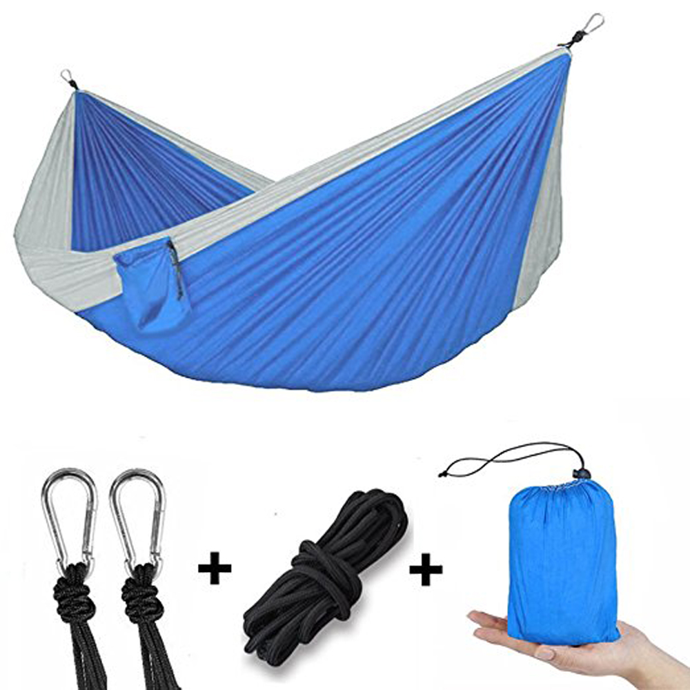 Camping Hammock Double Person, iClover Portable Parachute Nylon Lightweight Quick Dry Outdoor Tree Hammock with 2 x... by iClover