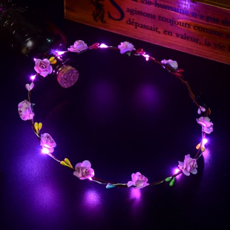 Glowing Wreath Led Light Wreath Headwear Hairband Decoration Accessories - image 1 of 6