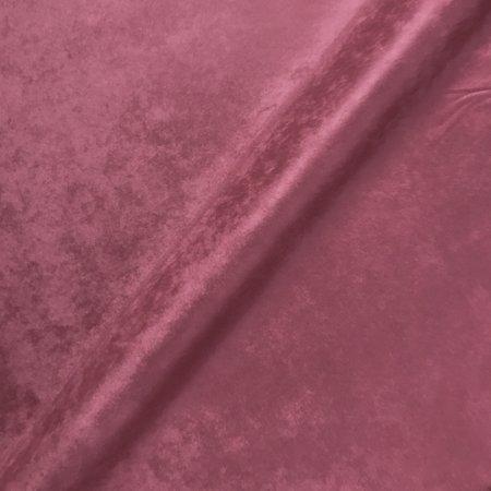 Luxe Pink Velvet Upholstery Fabric - 54