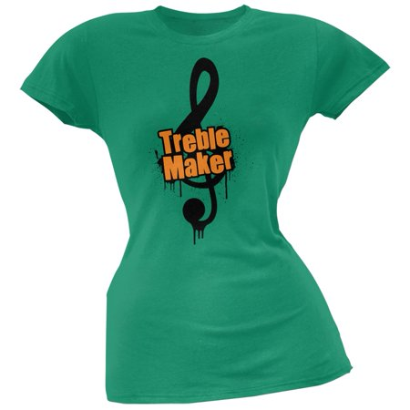 (Treble Maker Kelly Green Soft Juniors T-Shirt)
