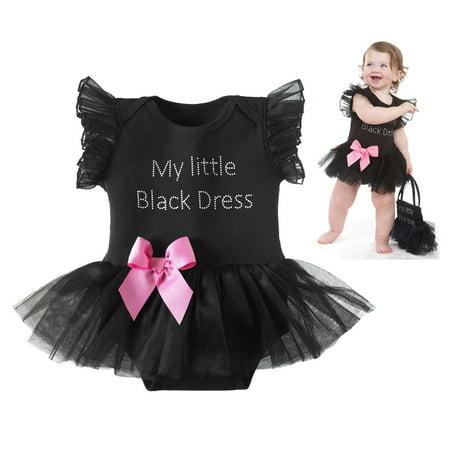 75a36669a Ganz - My Little Black Dress Toddler Onesie - By Ganz (Size 12-18 Months) -  Walmart.com