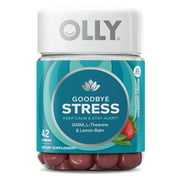 OLLY Goodbye Stress Gummies with GABA, L-Theanine, & Lemon Balm, 42 ct