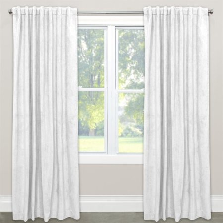 Skyline 120  Window Curtain Panel In Velvet White