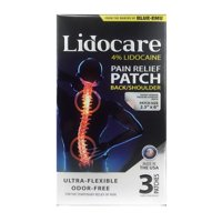 BLUE-EMU Lidocare Pain Relief Patch, Back and Shoulder, 3 ct