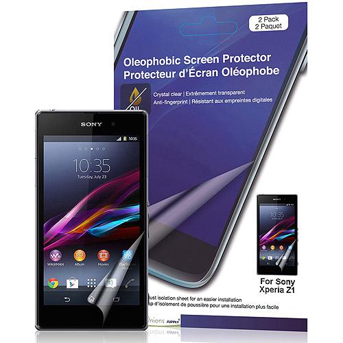Crystal Oleophobic Screen Protector for Sony Xperia Z1, 2pk