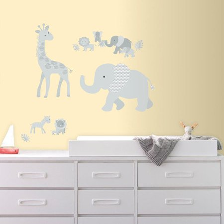 RoomMates Baby Safari Animals Peel and Stick Giant Wall Decals - Iron On Baby Skeleton Decal