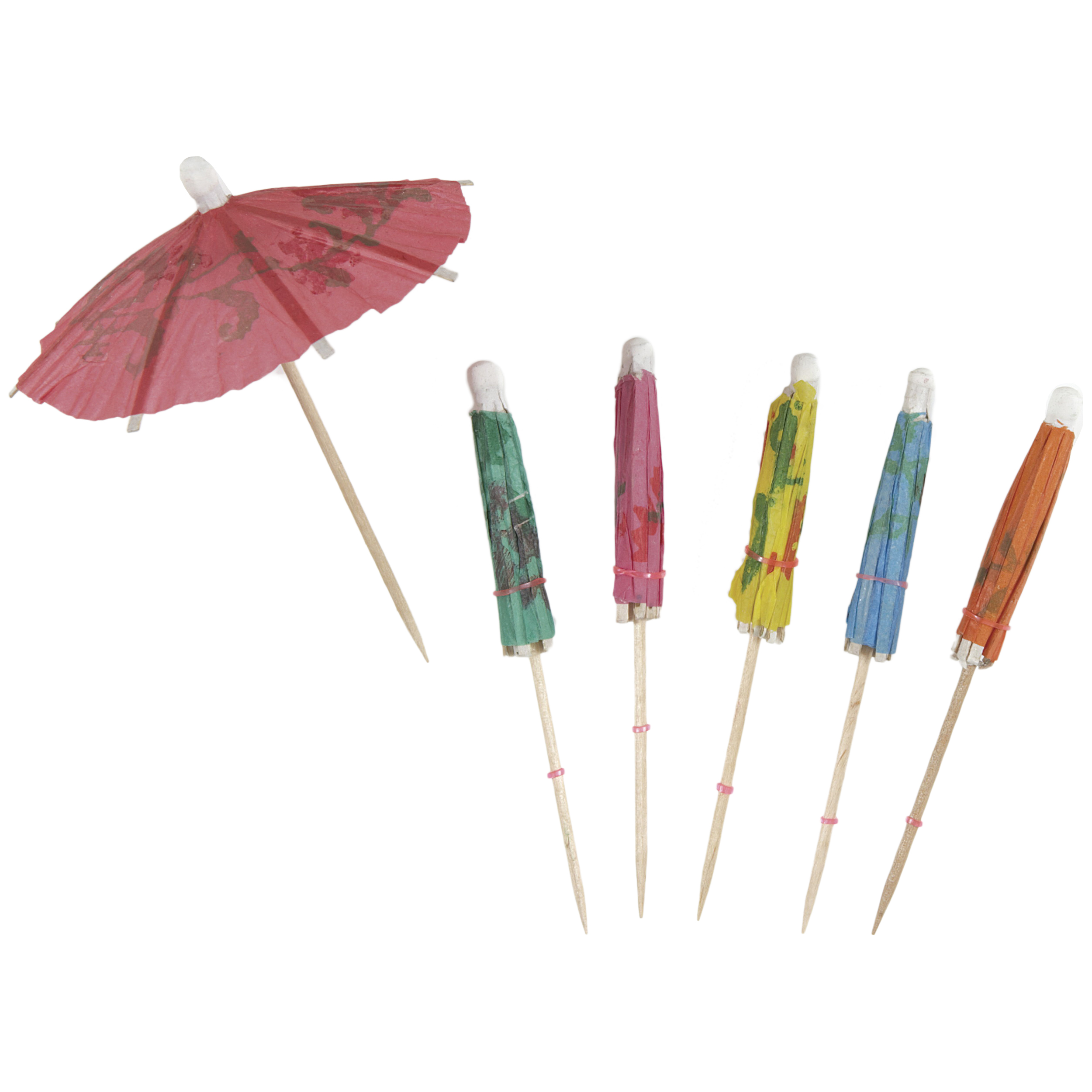 Tropical Paper Drink Umbrellas, Assorted, 100ct