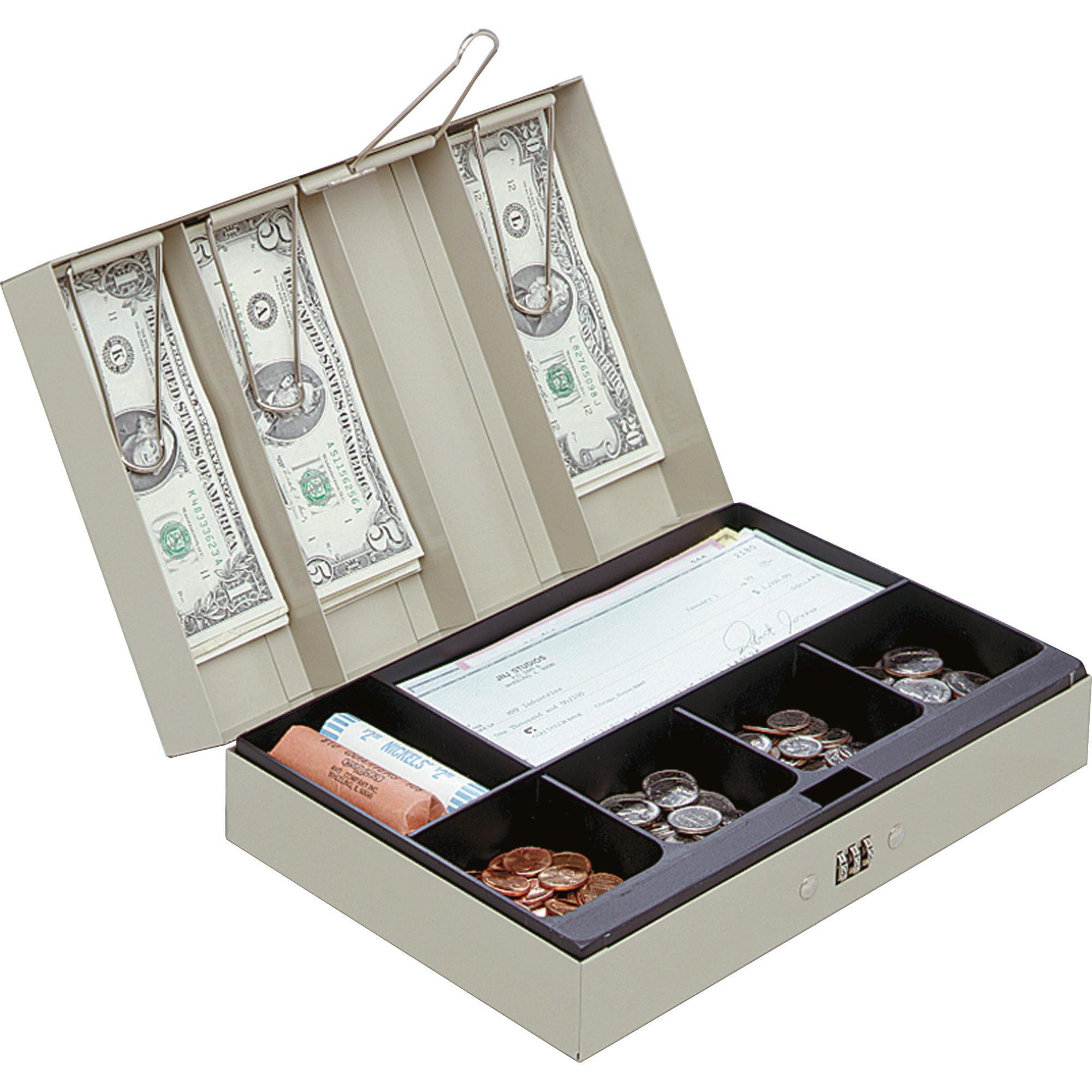 MMF, MMF221619003, Combination Lock Portable Cash Box, Sand
