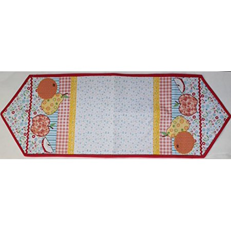 Loretta For Home Applique Table Runner 13 Inch X 36 Inch Red